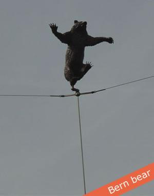 Balancing bear in Bern, Switzerland