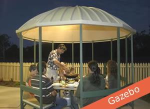 Dome roofed gazebo